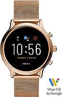 Fossil Julianna Hr Women's Multicolor Dial Stainless Steel Digital Smartwatch - FTW6062