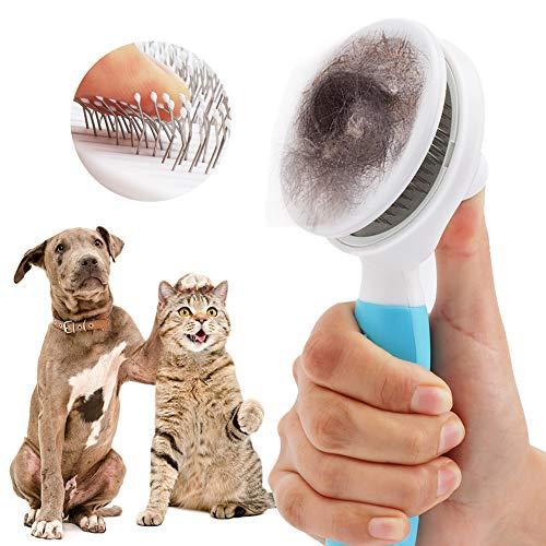 Etmury Katzenbürste, Katzenburste Selbstreinigend Zupfbürste Entfernt Unterwolle Hundebürste Hundebürste Katzenbürste Kurz bis Langhaar Geeignet Sanfte Katzenbürste Zupfbürste