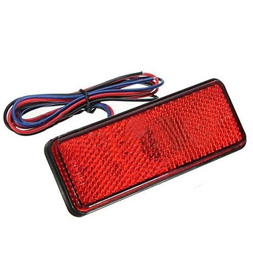 TOOGOO LED reflecteur arriere rouge queue frein arret pour camionnette remorque SUV moto