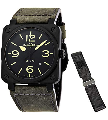 Bell & Ross Instruments BR 03-92 NIGHTLUM 42mm Men's Watch (Ref: BR0392-BL3-CE/SCA)