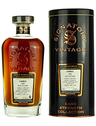 CAMBUS 1991-28 Jahre - SHERRY CASK - Signatory Vintage Cask Strength Whisky Collection