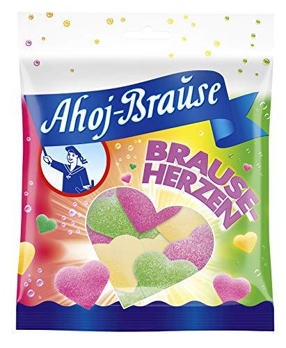Frigeo Ahoj-Brause Herzen - Herrlich Prickelnd-Softe Gummibonbon-Herzen mit Brause Ummantelt, 16er Pack (16 x 150 g)