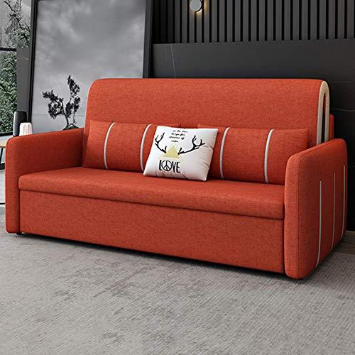 Équipement pour la maison Canapé futon coulissant Canapé-lit pliant Meubles de salon nordique Causeuse en tissu Canapé lit convertible Canapé-lit de rangement avec oreiller et coussin confortable R