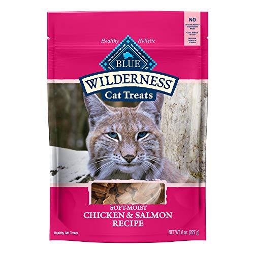 Blue Buffalo Wilderness Grain Free Soft-Moist Cat Treats, Chicken & Salmon 8-oz Bag
