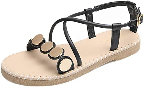 Sandales et pantoufles d'été Porter des des sandales d'été en été, vent de fée, chaussures de plage sauvages, chaussures romaines, chaussures plates, bord de mer, vacances, plateforme imperméable quotidie  nouveau style