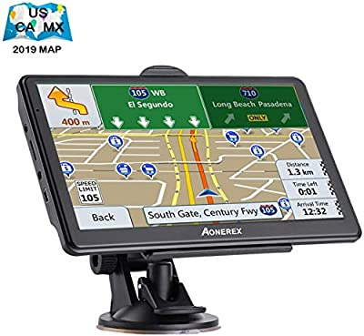 GPS Navigation for Car 7 inch Touch Screen 8GB&256MB GPS Navigation System Spoken Turn- to-Turn Traffic Alert Vehicle Car GPS Navigator Lifetime Free Map Updates