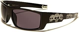 Square Triple Skulls Wrap Around Sunglasses
