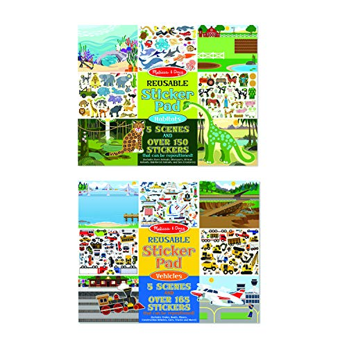 Product Image of the Melissa & Doug Vehicles and Habitats Reusable Bundle Sticker Pad