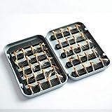 40 piezas/lote trucha ninfa pesca con mosca TOPIND pesca cebo pesca aparejos 6 colores mosca pesca mosca con caja carpa cebo artificial (05-Flyfishinglures)