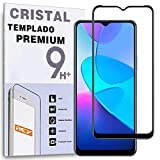 REY Protector de Pantalla Curvo para Vivo Y11s - Vivo Y20s, Negro, Cristal Vidrio Templado Premium, 3D / 4D / 5D, Anti Roturas