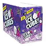 ICE BREAKERS ICE CUBES Arctic Grape Sugar Free Chewing Gum, Made with Xylitol, 1.62 oz Thin Pack (6 Count)