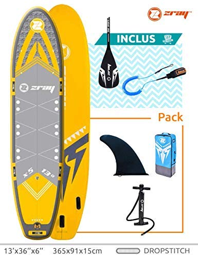 Zray Sup 13' -Stand Up Paddle Gonflable-Charge Max 220 Kg-396 x 91 x 15 cm-Dropstitch Simple...
