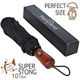 NEW Premium Umbrella Windproof - Large Umbrella Travel - Compact Umbrella Automatic
