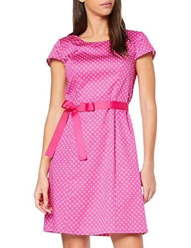Betty Barclay Damen 6444/1183 Kleid, Mehrfarbig (Pink/Cream 4813), 36