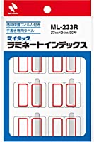 ニチバン マイタック ラミネートインデックス ML-233R 大 赤 【× 4 パック 】