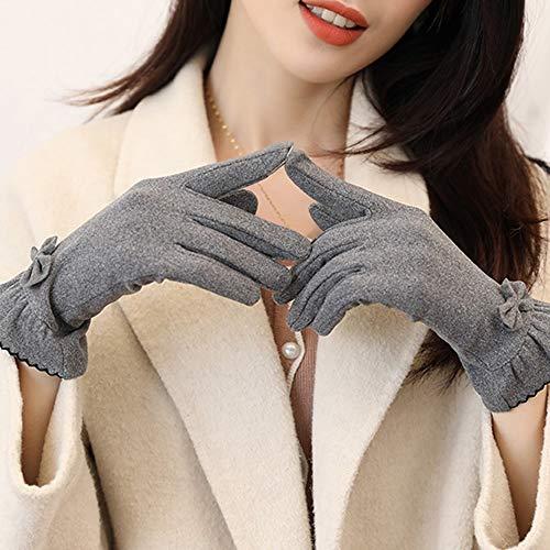 LHTCZZB Otoño Tecnología resistente al frío de una sola capa de guantes de invierno de las mujeres fino del estilo elástico Drive Ciclismo estudiantes a prueba de viento frío caliente a prueba de pant