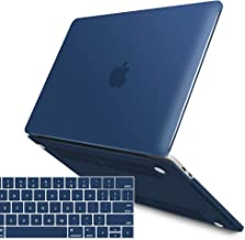 IBENZER MacBook Pro 13 Inch Case 2019 2018 2017 2016 Release A2159 A1989 A1706 A1708, Soft Touch Hard Case Shell Cover for Apple MacBook Pro 13.3 with/Without Touch Bar,Navy Blue, MMP13T-NVBL+1A
