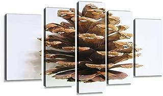 松ぼっくり 秋 冬 植物 俯瞰 白バック クリスマス 物撮り 素材 材料 パーツ 茶色 背景白 無人 ブラウン 人物なし キャンバスアート アートボード 壁掛け装飾 おしゃれ 部屋飾り インテリアパネル 絵画 ポスター 木枠付きの完成品
