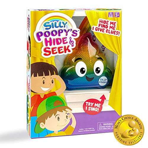WHAT DO YOU MEME? Silly Poopy's Hide & Seek - The Talking, Singing Rainbow Poop Toy to Encourage Active Play Kids
