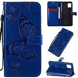Coque Étui en Cuir Samsung Galaxy Note 10 Lite / A81 Portefeuille Sac Désign Couleur Unie Gaufrage...