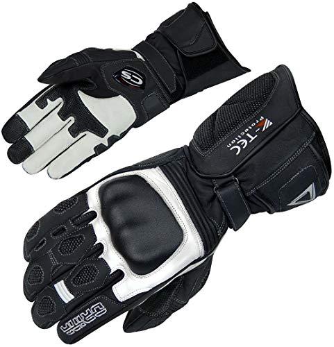 Orina Force Motorradhandschuhe S Schwarz/Weiß