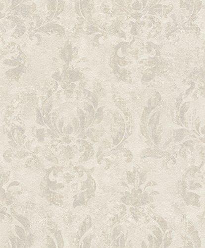 rasch Tapete 467406 aus der Kollektion Vincenza – Vliestapete mit fein skizzierten Ornamenten in Creme im klassischen Stil – 10,05m x 53cm (L x B)