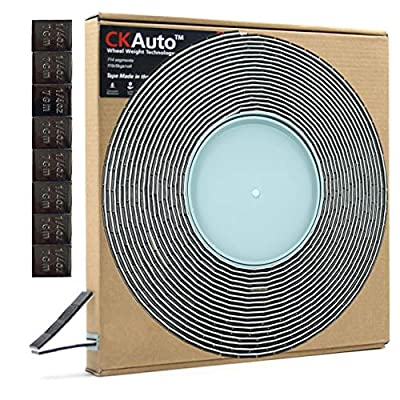 CKAuto 0.25oz, Grey, Adhesive Stick on Roll Wheel Weights, 5kgs/roll,715pcs, US Quality