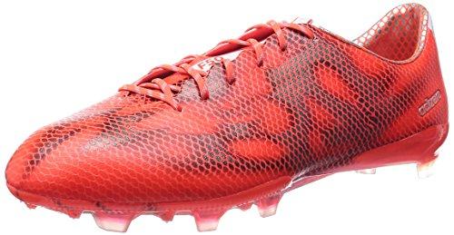 adidas F50 Adizero Firm Ground, Botas de fútbol para Hombre, Solar Red/FTWR White/Core Black, 44.7 EU