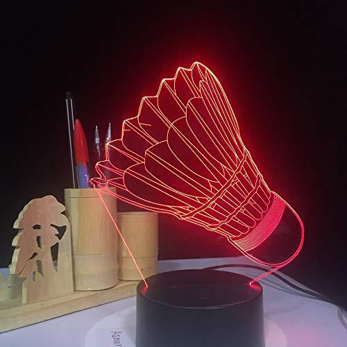 3D LED Badminton Nachtlicht Illusion Lampe 7 Farbwechsel Dekor Lampe Nachttischlampe Schlaflicht perfekte Geburtstags geschenke Kinder Spielzeug
