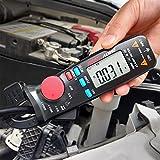 DC Current Clamp Meter 6000 Counts Auto-Ranging Digital Ammeter Amp Ohm Hz Live Check V-Alert Voltage Tester with Back Clip