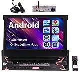 Android dello schermo di tocco capacitivo 10.0 GPS per auto Radio Stereo Bluetooth Receiver singolo Din da 7 pollici supporto stereo di multimedia Headunit auto USB SD WiFi MirrorLink Equalizzatore