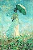AMANUO Monet Impresiones Pinturas Famosas sobre Lienzo Humanas 40X60 cm Cuadros Enrollada - Estudio De Una Figura Al Aire Libre Mirando A La Derecha 1886