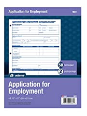 Great way to capture all pertinent information for potential employees Spaces for all relevant information printed on one two-sided form 50 forms per pad, 2 pads per package 8.5 x 11 inches White Great way to capture all pertinent information for pot...