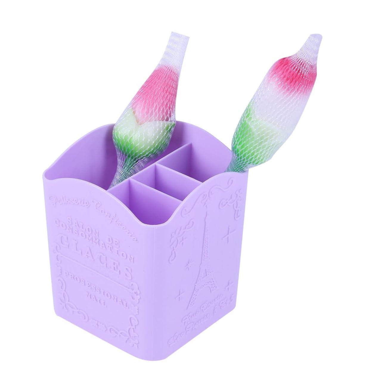 はちみつマークダウン手入れYumbyss - メイクブラシペンのために1個プラスチック製化粧ケースポータブルストレージメイクバッグオーガナイザーブラシホルダーカップ