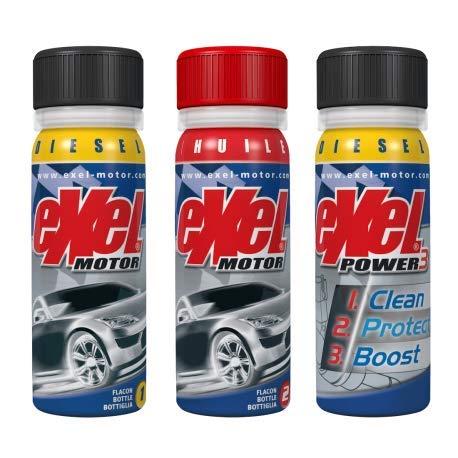 EXEL MOTOR3® Diesel - Traitement intégral haut et bas moteurs - Mise en conformité contrôle technique - Réduction de la consommation - Diminution des émissions polluantes des véhicules diesel.