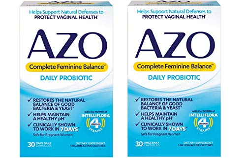 AZO Complete Feminine Balance Women's Daily Probiotic | Clinically Proven to Help Protect Vaginal Health | Clinically Shown to Work in 7 Days |