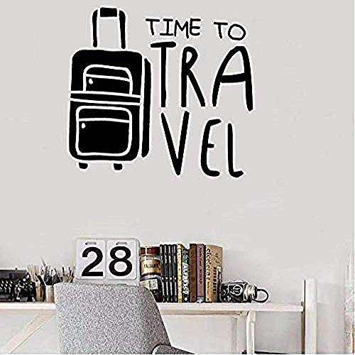 Wall Sticker Art Decal Vinyl Mural Travel Time Home Decoration Holiday Room Explore Luggage Bedroom 57 * 63Cm