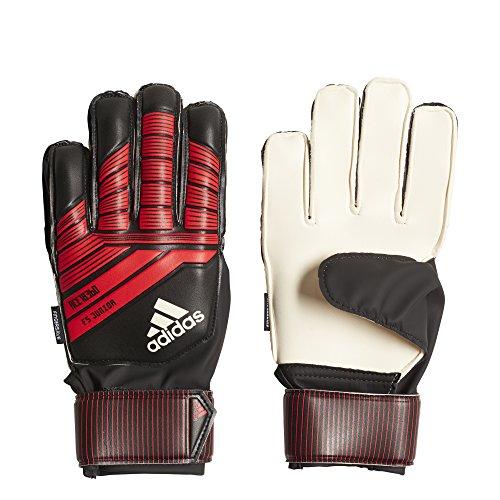 adidas Predator Junior Soccer Gloves,Black/Red,Size 3