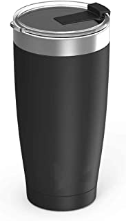 Juro Tumbler 20 oz Stainless Steel Vacuum Insulated Tumbler with Lids and Straw [Travel Mug] Double Wall Water Coffee Cup for Home, Office, Outdoor Works Great for Ice Drinks and Hot Beverage – Black