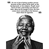 Wee Blue Coo No One is Born Hating Nelson Mandela BW
