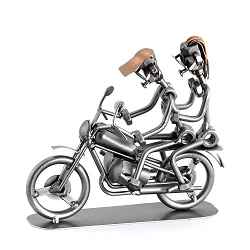 Steelman24 I Schraubenmännchen Motorrad Duo I Made in Germany I Handarbeit I Geschenkidee I Stahlfigur I Metallfigur I Metallmännchen