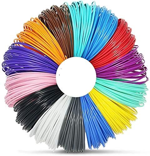 Penna 3D Filamento PLA - VICTORSTAR 22 Colori 220 Metri ( 722 Ft) 1.75mm Penna di Stampa 3D Filamento, 5 Bagliore nel Buio + 1 Legno + 5 Fluorescenti di Colore, 10 Petri (32.8ft) Ogni Colore, Materiale in Resina Vegetale e Nessun Odore Meglio Salute