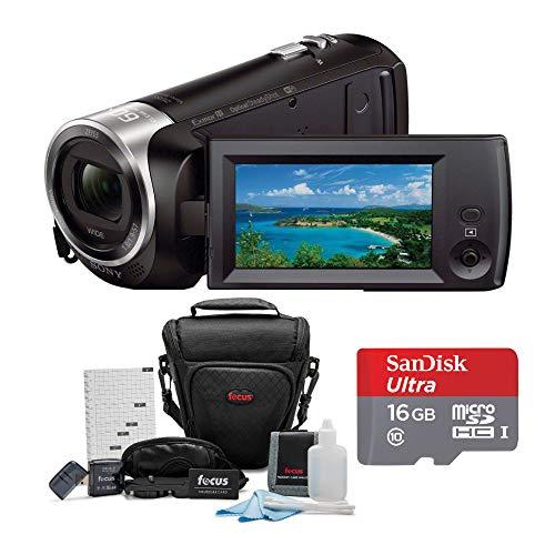 %10 OFF! Sony HDR-CX440/B Full HD Video Handycam Camcorder w/Sony 16GB SD Card Bundle