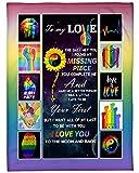 to My Love Pride Stuff, Gay Pride Stuff, LGBT Pride, LGBTQ Flag, Gay Pride Flag, Pride Flags, Rainbow Flag Blanket 30x40