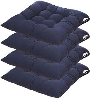 4 cojines para silla Cojines de Asiento cuadrado 40x40 cm