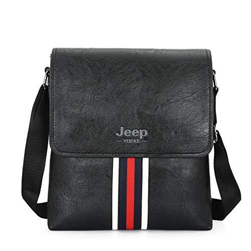 csfssd Jeep bag men's bag handbag soft PU leather business Messenger bag luxury men's bag designer male Messenger bag shoulder bag (Color : 2)