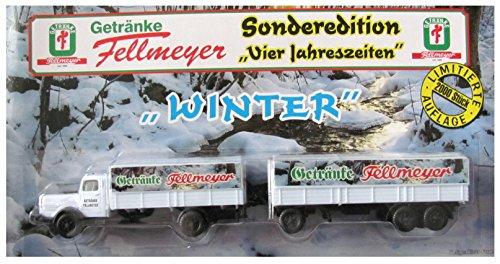 Getränke Fellmeyer Nr.05 - Winter - Man Büssing 8000 - Hängerzug Oldie
