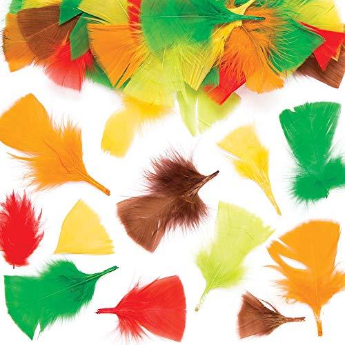 Baker Ross knutselveren in herfstkleuren voor kinderen – perfect voor het knutselen en decoreren van collages en kaarten en hoeden en kostuums voor carnaval (120 stuks)