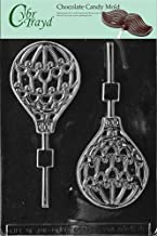 Cybrtrayd Life of the Party K046 Hot Air Balloon Lolly Chocolate Candy Mold in Sealed Protective Poly Bag Imprinted with Copyrighted Cybrtrayd Molding Instructions