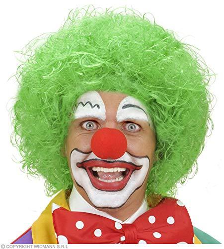 Clown perruque cheveux bouclés vert